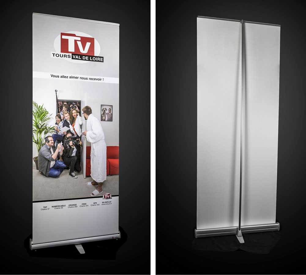 roll-up kakémono TV Tours graphival